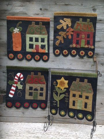 Saltbox House Part 3 - Wool Applique Flags