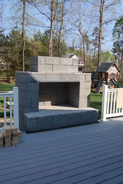 diy fireplace...instead of fire pit..maybe