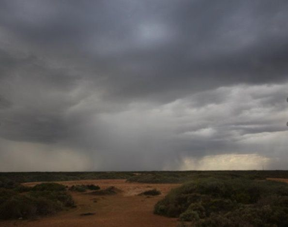 Approaching Storm across The Nullabor.  Head of the Great Australian Bight, SA.