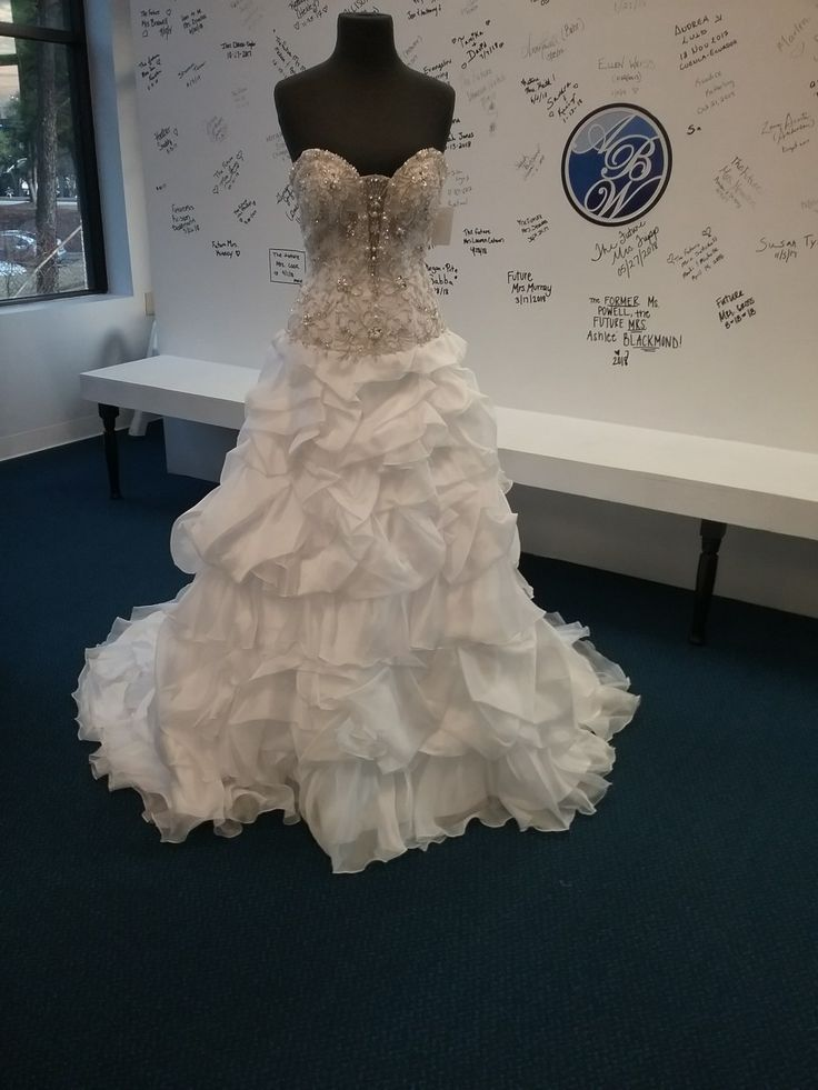 16 best strapless wedding dresses a bridal world images for Wedding dress large bust small waist