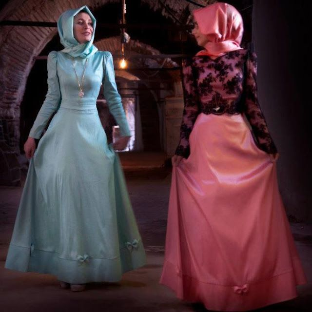 The sister in the blue reminds of a hijabi Cinderella :-) -A.Jo Hijab formal