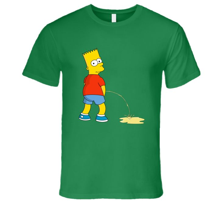 Bart Simpson Making Pee The Simpson  T Shirt