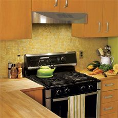 Amazing ... How To Install Glass Mosaic Tile Backsplash In Kitchen