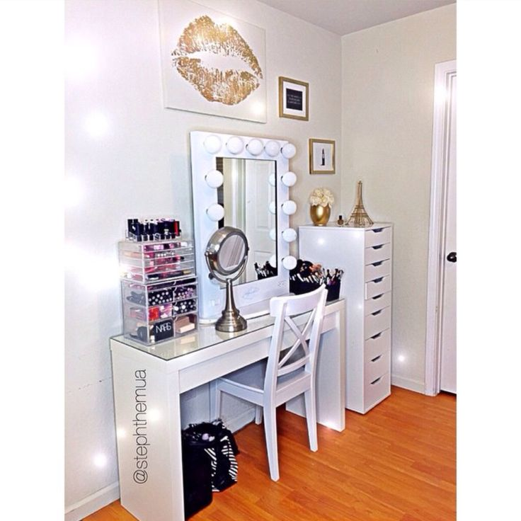 Vanity inspiration the glam room pinterest vanities - Organisation dressing ...