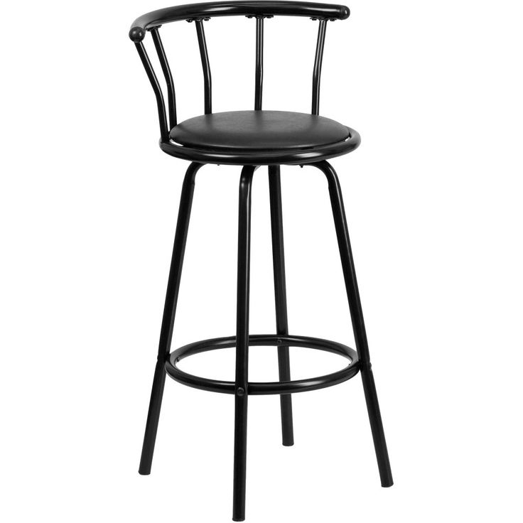 Metal and Vinyl Crown Back Swivel Bar Stool - Bring comfort and convenience to your home or commercial bar with the Flash Furniture 30 in.  sc 1 st  Pinterest & 88 best Home Bar Furniture images on Pinterest | Home bar ... islam-shia.org