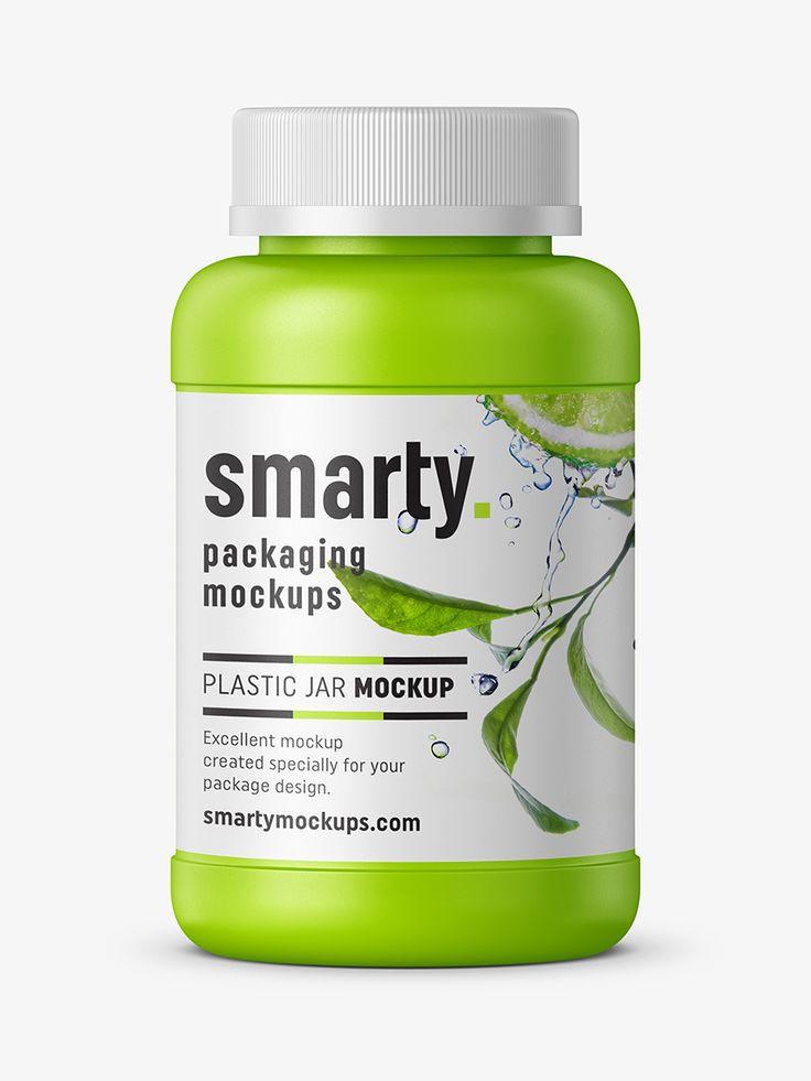 Nutrition bottle mockup - matte
