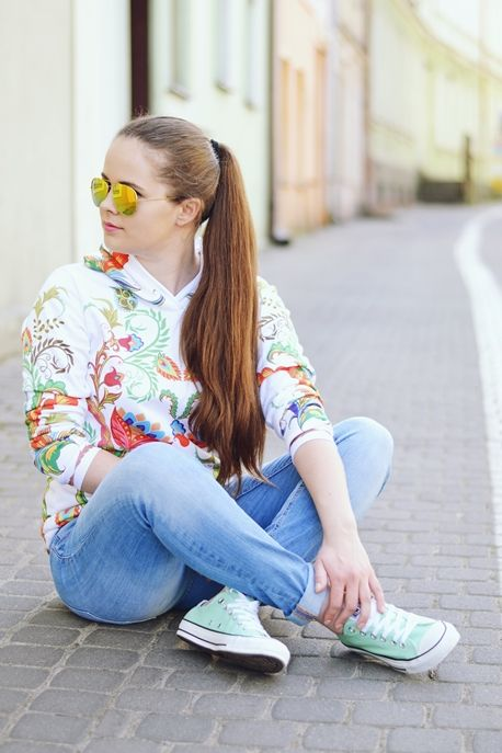 PATRYCJA #topbyguesswhat #polishgirl #girl #ootd #casual #style #jeans #converse