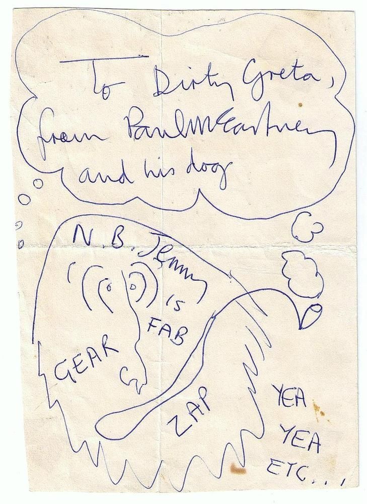 PAUL McCARTNEY AUTOGRAPH & DRAWING SIGNED ON MAGICAL MYSTERY TOUR BUS 67 BEATLES    eBay