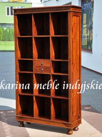 meble kolonialne - biblioteczka LD-427 brown