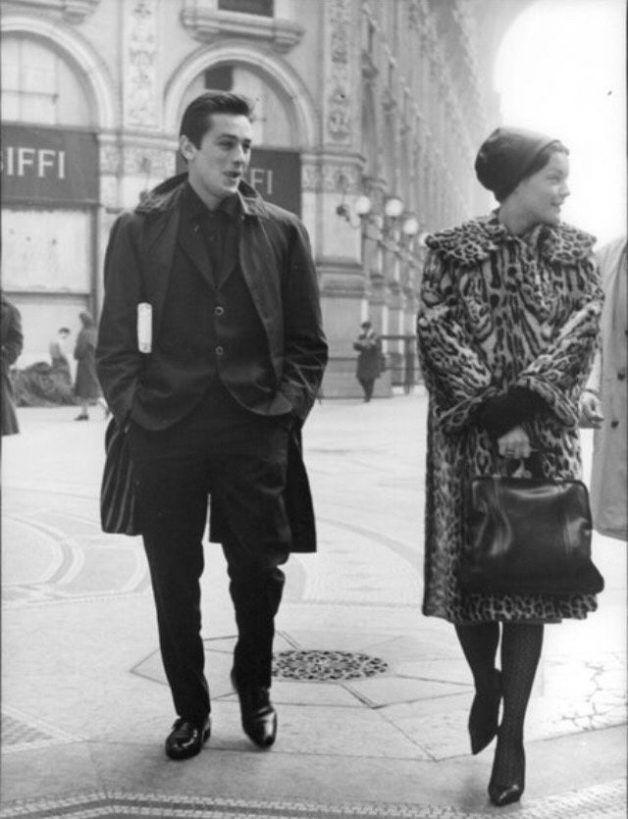 Alain Delon and Romy. François Truffaut