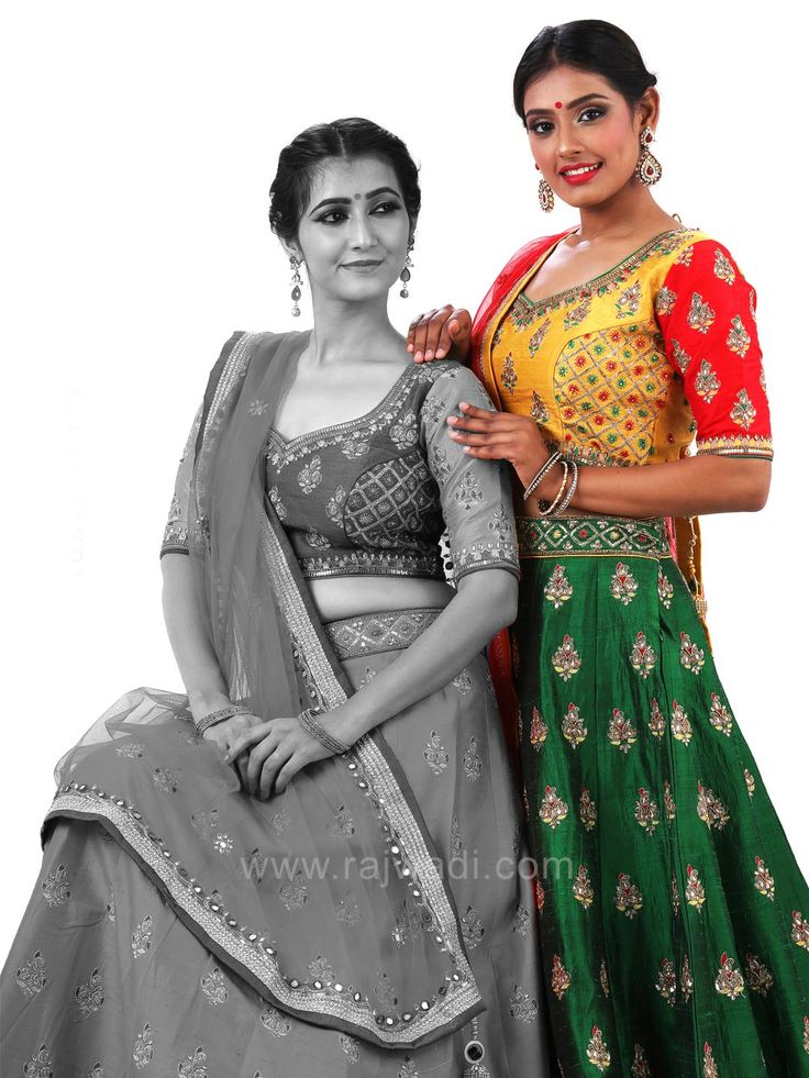 Wedding Butta Work Lehenga with Embroidered Choli and Dupatta #rajwadi #cholisuit #readycholi #lehengas #embroidered #FeelRoyal #bridal #colorful