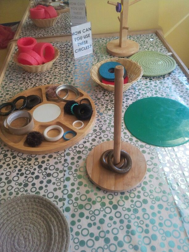 Toddler provocation. How can you use these circles? The Sunflower School Orangeville