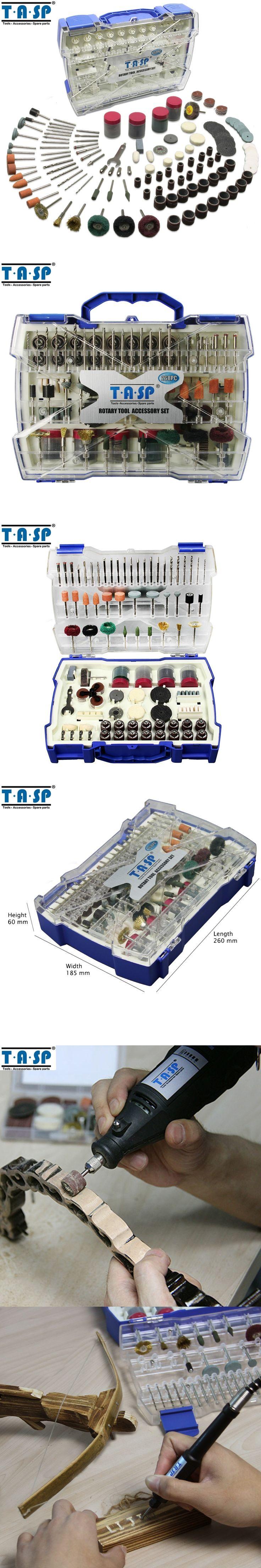 TASP 268PC Dremel Mini Drill Rotary Tool Accessories Bit Set for Grinding Polishing Cutting Abrasive Tools Kits