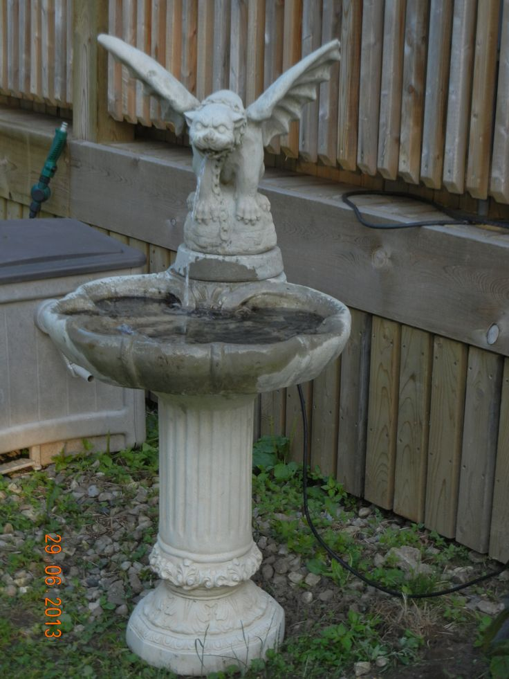 My Gargoyle Bird Bath Outdoor Whimsey Pinterest Bird