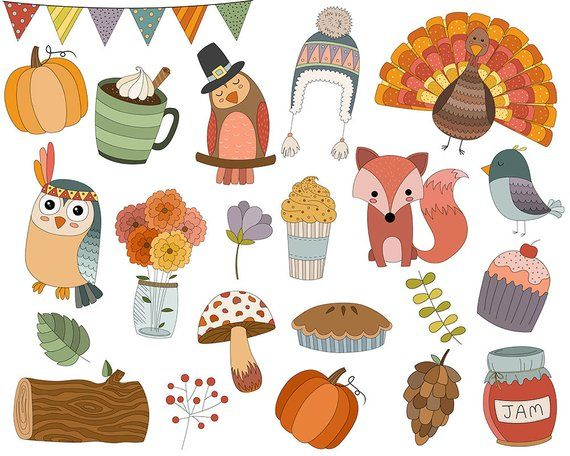 Autumn Doodles Clip Art Set Of 22 300 Dpi Png Jpg And Etsy In 2021 Autumn Doodles Fall Doodles Clip Art