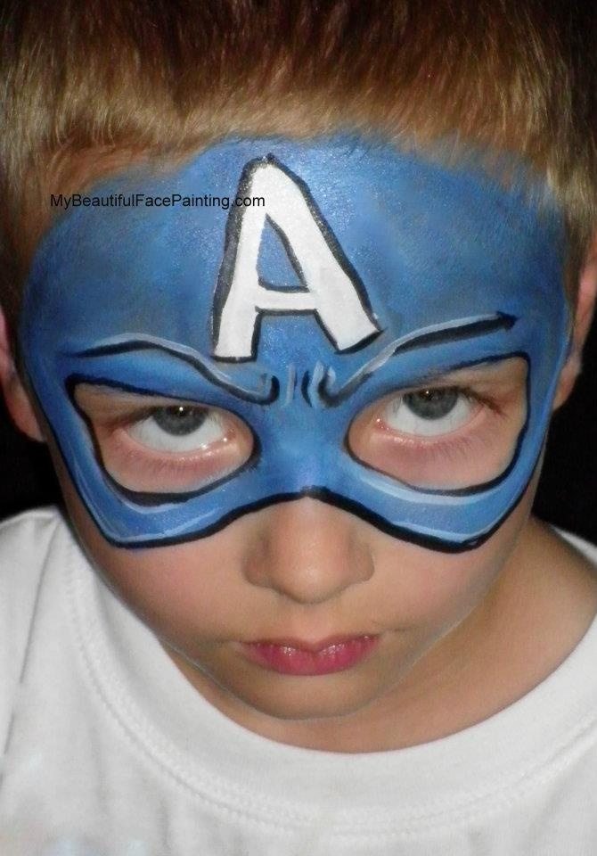 captain america i use several different shades of blue to get this shade paradise