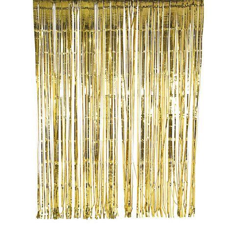 Gold Curtain Decoration