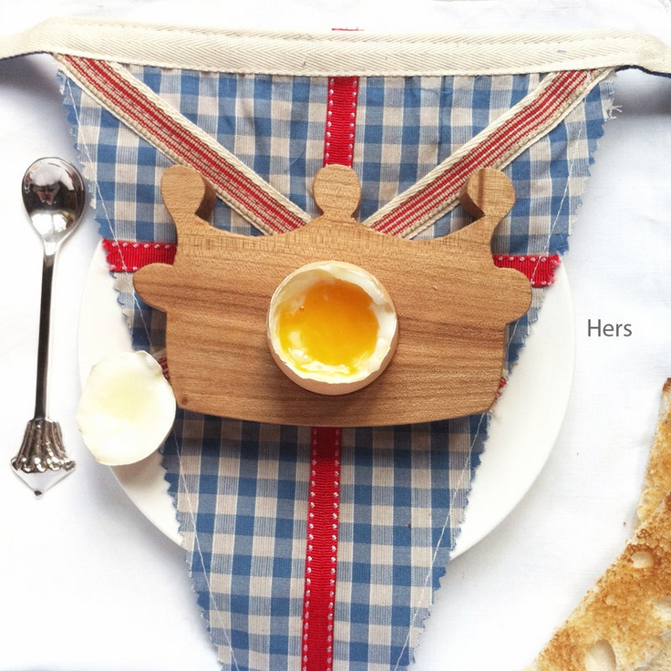 His Or Hers Crown Egg Cup  by Hop & Peck