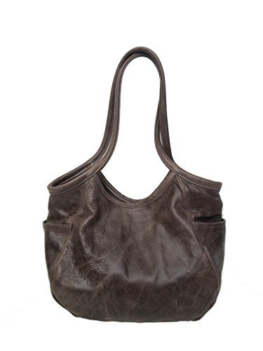 167083dd24d0 Fgalaze Distressed Brown Leather Bag