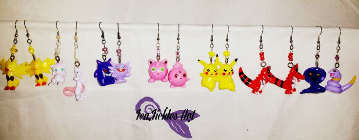 This Just In! Otto and I have completed several pairs of Pokemon Earrings and I want to keep them ALL, lol!  Not on @Etsy yet, but you can order them by sending a PM. $12 FREE USA Shipping!