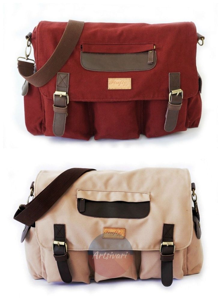 Stylish Vintage Canvas Messenger Laptop Satchel Travel Casual School Book Bag | eBay