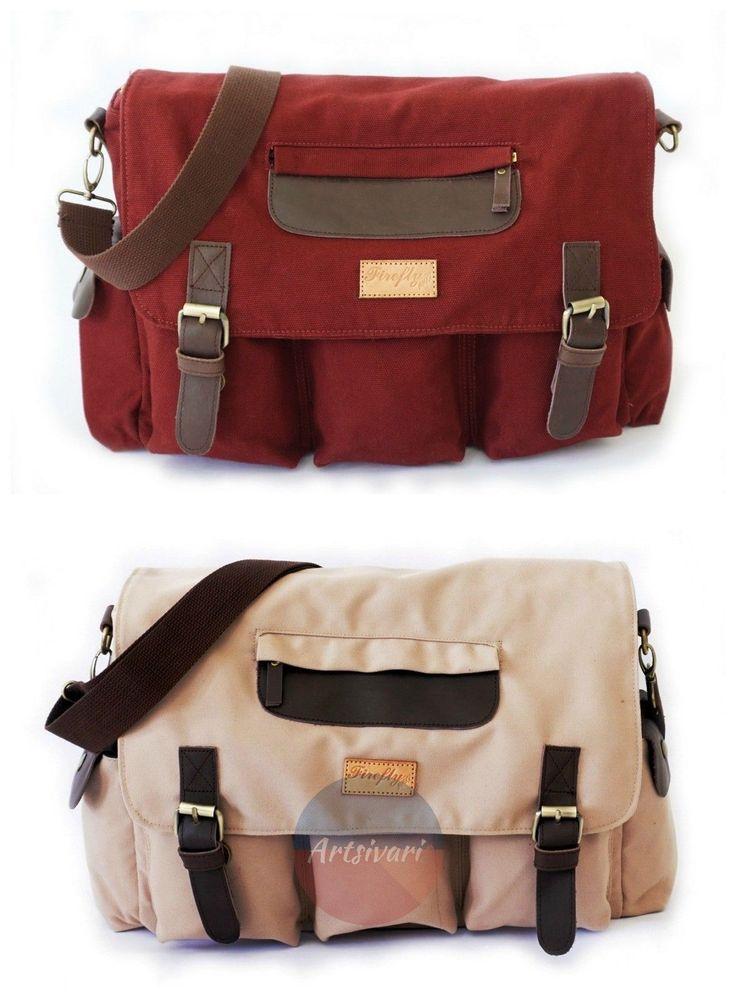 Stylish Vintage Canvas Messenger Laptop Satchel Travel Casual School Book Bag | eBay