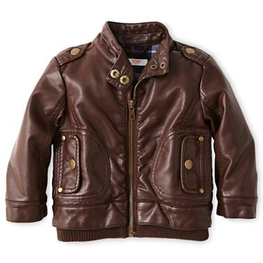 Baby bomber jacket! (@Joseph Cohen Fresh Faux Leather Jacket