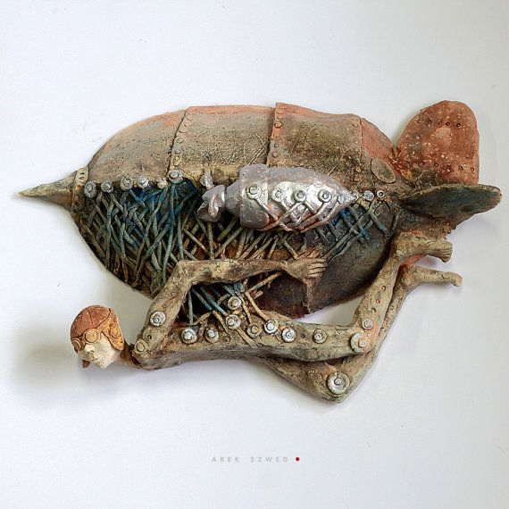 Zepp 3/ Ceramic Sculpture/ Wall Art by arekszwed on Etsy