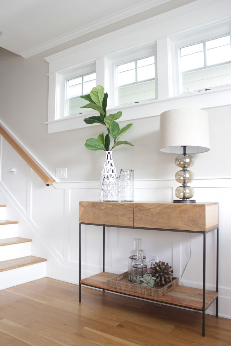 Industrial storage console in hallway of San Diego beach home | west elm