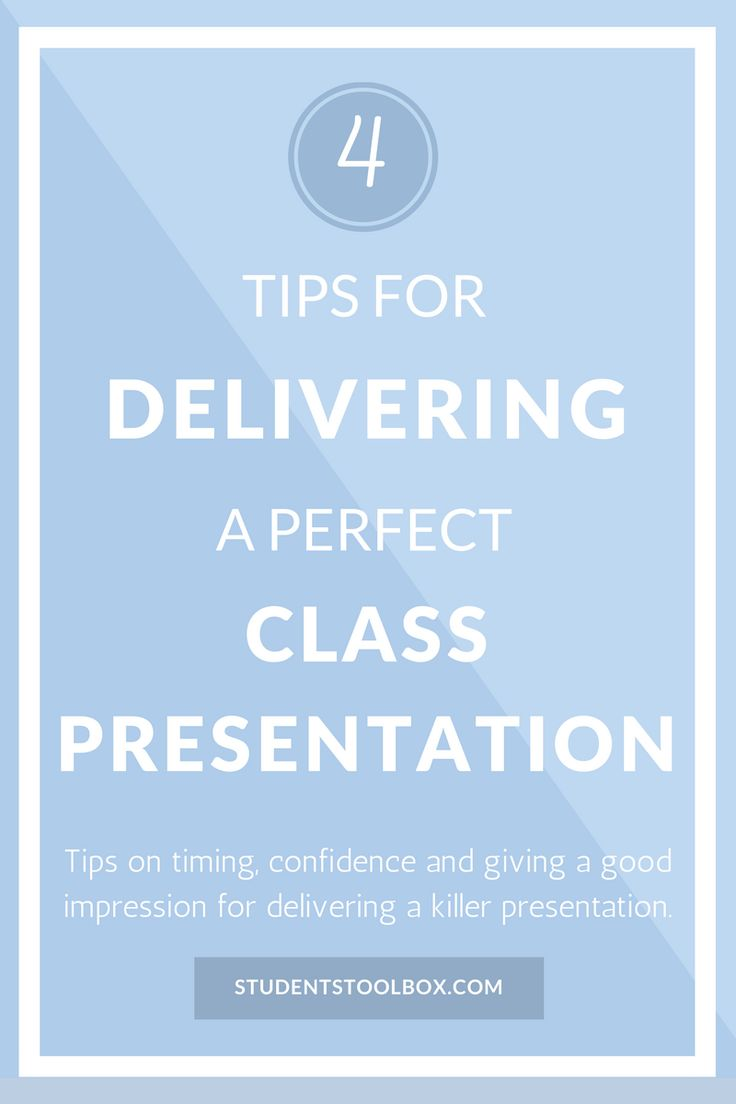 Top 4 Tips For Delivering a Perfect Class Presentation | Students Toolbox