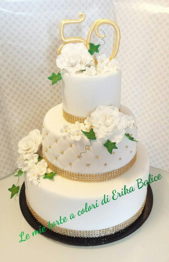 Wedding cake 50 years together