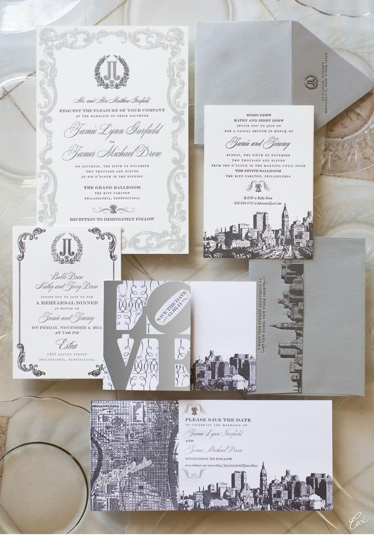 Our Muse - Wintry Philadelphia Wedding - Be inspired by Jamie & Jimmy's wintry wedding in Philadelphia - wedding, invitations, foil printing, letterpress printing