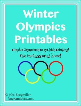 Winter Olympics Printables. Perfect to use in the next few weeks!