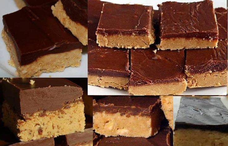 1 cup butter  2 cups creamy peanut butter  1 ¼ cup graham cracker crumbs  1 cup powdered sugar  6 oz. chocolate morsels    In saucepan melt butters. Add cracker crumbs and sugar and mix well. Press into 9x13 baking dish.    Melt chocolate