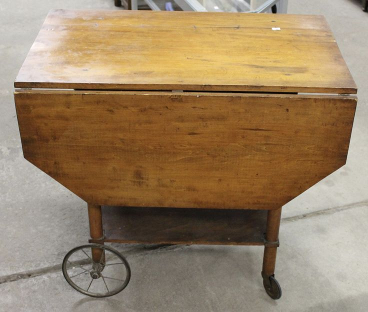 Antique Drop Leaf Serving Table/cart