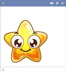 This smile star will garner plenty of attention when you post it to a timeline.