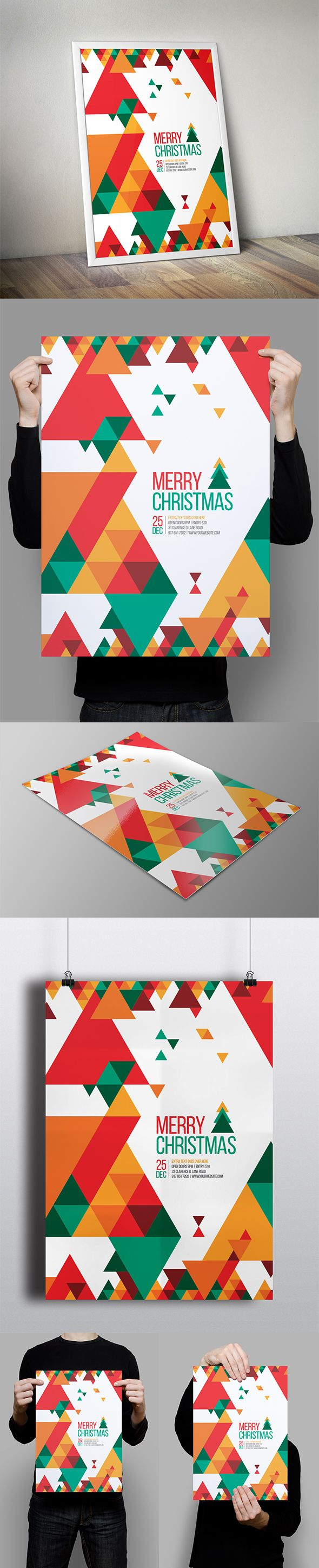 Minimal Christmas Flyer on Behance