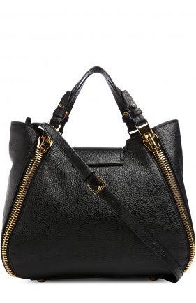 Женская черная сумка sedgwick Tom Ford, сезон FW 16/17, арт. L0746T/GLT купить в ЦУМ   Фото №1