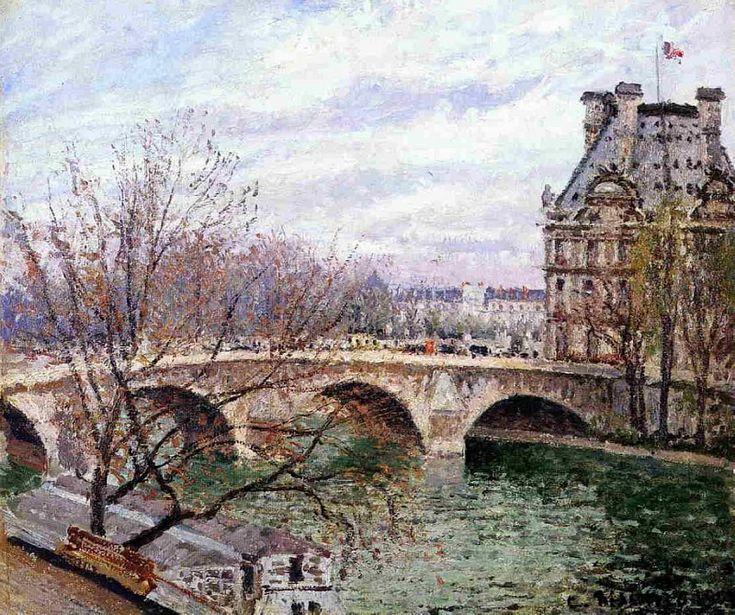 Королевский мост и Павильон «Флора». Камиль Писсарро