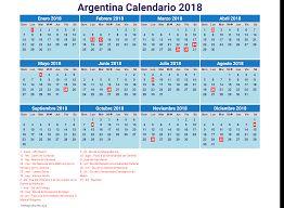 Resultado de imagen para calendario 2018 argentina para imprimir