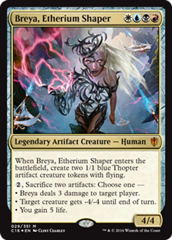 Breya, Etherium Shaper mtg Magic the Gathering Commander 2016 card