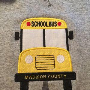 Buyer photo Terrie using Original Stitches School Bus Applique Design.