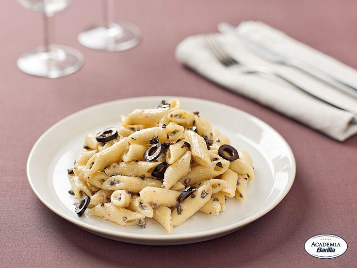 Mezze penne con olive e caprino - Dettaglio