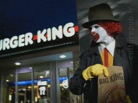 Ronald McDonald en Burger King
