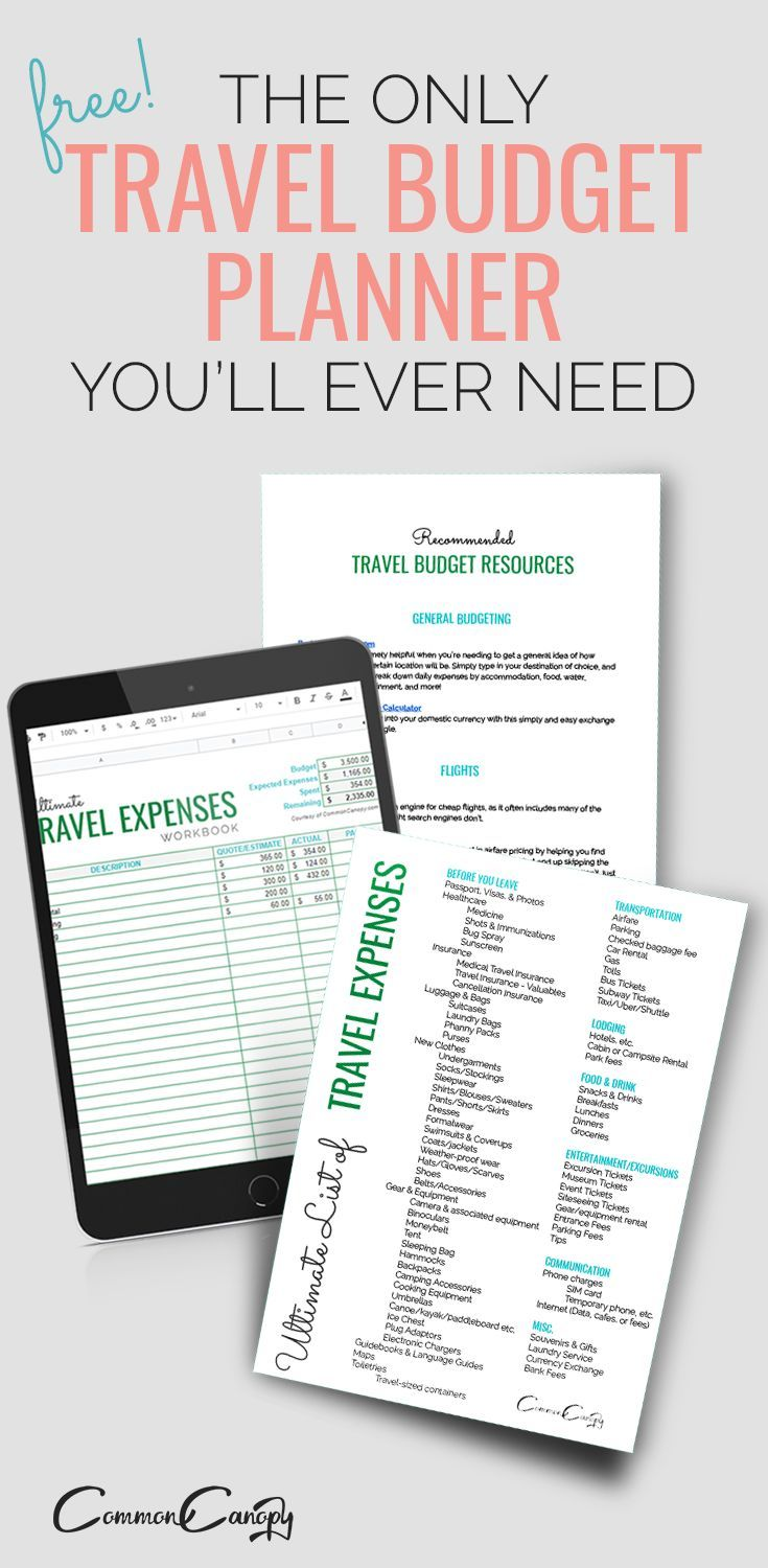 Simple Travel Budget Planner Free Printable And Downloadable