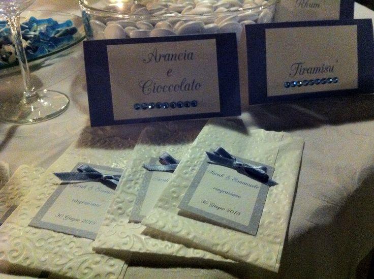 Sacchetto per confettata blu avion wedding blue www.stampaecrea.it