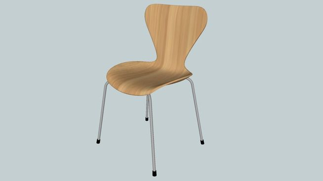 Cadeira Jacobsen (Freijó) - 3D Warehouse