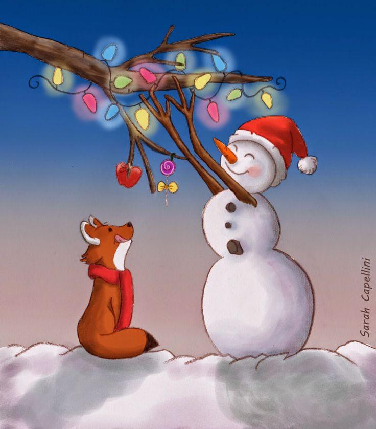 I disegni di Verdemela: Natale 2014 Pupazzo di neve - Christmas 2014: Snowman. It's time for decorations!