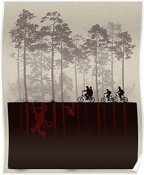 'Stranger Things – Upside Down' Poster by ILOVEBIGDADDYRedbubble