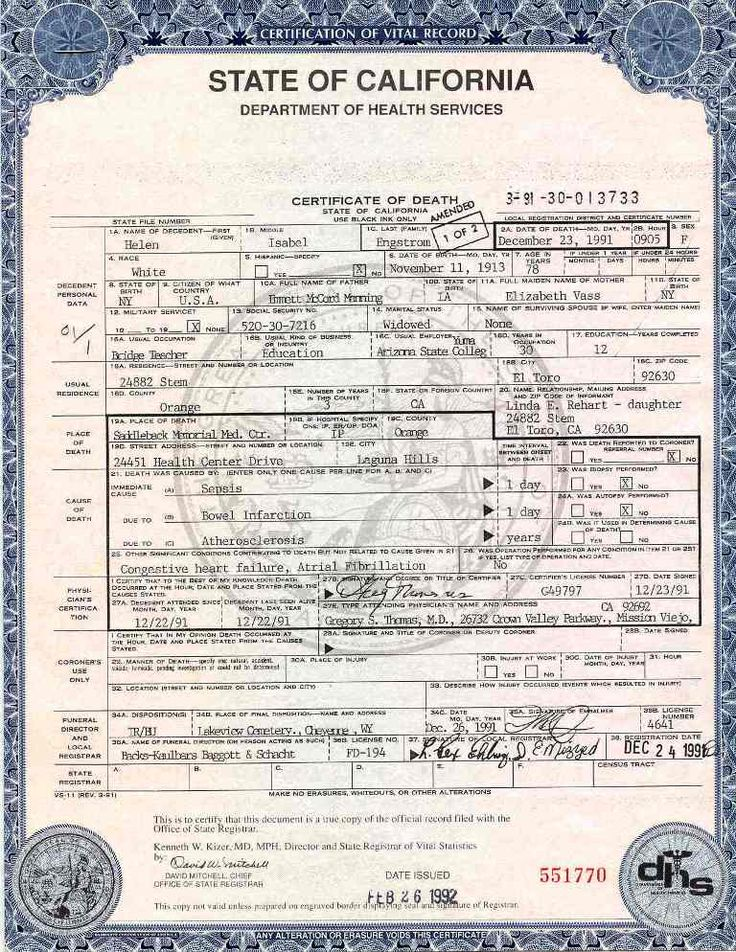 Official Blank Birth Certificate Template